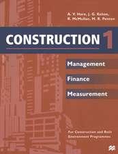 Construction 1: Management Finance Measurement