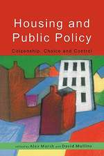 Housing And Public Policy