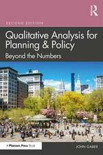 Qualitative Analysis for Planning & Policy