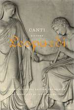 Canti:  Poems / A Bilingual Edition