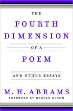 The Fourth Dimension of a Poem – and Other Essays