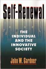 Self–Renewal – The Individual & the Innovative Society (Paper)