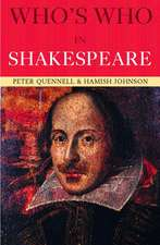 Who's Who in Shakespeare:  Strategies, Society, and Security