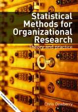 Statistical Methods for Organizational Research