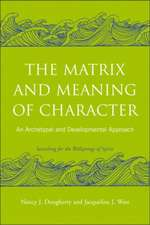 The Matrix and Meaning of Character