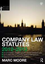 Company Law Statutes 2012-2013