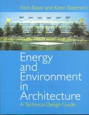 Energy and Environment in Architecture