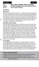 Literacy World Comets Stage 2: Born Lucky and Other Tales Guided Reading Card