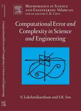 Computational Error and Complexity in Science and Engineering: Computational Error and Complexity