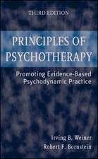Principles of Psychotherapy: Promoting Evidence–Based Psychodynamic Practice