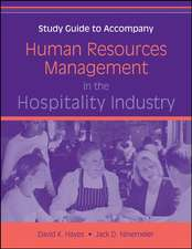 Human Resources Management in the Hospitality Industry: Study Guide