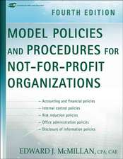 Model Policies and Procedures for Not–for–Profit Organizations