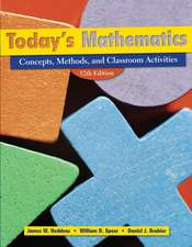 Today′s Mathematics: Concepts, Methods, and Classroom Activities (Shrinkwrapped with CD inside envelop inside front cover of Text)