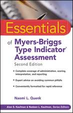 Essentials of Myers–Briggs Type Indicator Assessment