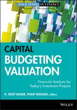 Capital Budgeting Valuation: Financial Analysis for Today′s Investment Projects