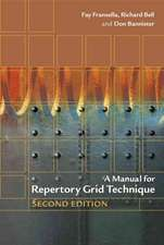 A Manual for Repertory Grid Technique
