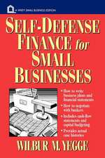 Self–Defense Finance: For Small Businesses