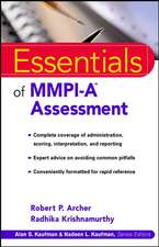 Essentials of MMPI–A Assessment