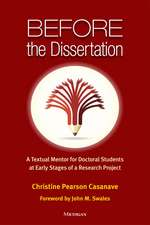 Before the Dissertation: A Textual Mentor for Doctoral Students at Early Stages of a Research Project