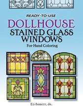 Ready to Use Dollhouse Stained Glass Windows