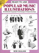 Ready-To-Use Popular Music Illustrations:  96 Different Copyright-Free Designs Printed One Side