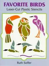 Favorite Birds Laser-Cut Plastic Stencils