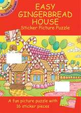 Easy Gingerbread House Sticker Picture Puzzle [With Stickers]