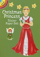Christmas Princess Sticker Paper Doll [With Stickers]
