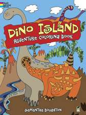 Dino Island Adventure Coloring Book