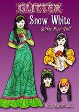 Glitter Snow White Sticker Paper Doll