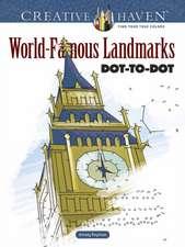 Creative Haven World-Famous Landmarks Dot-To-Dot
