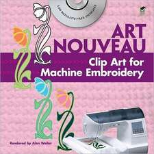 Art Nouveau Clip Art for Machine Embroidery [With CDROM]:  300 Vector Files [With CDROM]