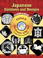Japanese Emblems and Designs [With Clip Art CD]:  450 Portraits from Colonial Times to 1900 [With CDROM]