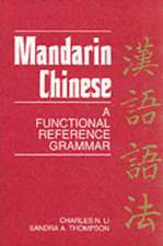 Mandarin Chinese – A Functional Reference Grammar (Paper)