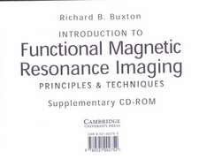 Introduction to Functional Magnetic Resonance Imaging CD-ROM: Principles and Techniques