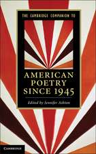 The Cambridge Companion to American Poetry since 1945