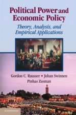 Political Power and Economic Policy: Theory, Analysis, and Empirical Applications