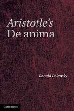Aristotle's De Anima: A Critical Commentary