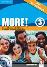 More! Level 3 Turkish Edition Student's Book with CD-ROM with Cyber Homework, Workbook with Audio CD and Extra Practice Book Pack