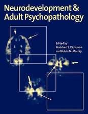 Neurodevelopment and Adult Psychopathology