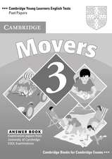 Cambridge Young Learners English Tests Movers 3 Answer Booklet: Examination Papers from the University of Cambridge ESOL Examinations