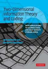 Two-Dimensional Information Theory and Coding: With Applications to Graphics Data and High-Density Storage Media
