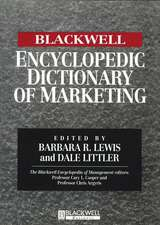 The Blackwell Encyclopedic Dictionary of Marketing