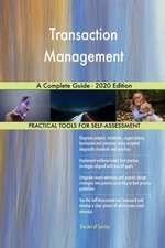 Transaction Management A Complete Guide - 2020 Edition