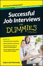 Successful Job Interviews For Dummies – Australia / NZ