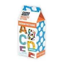 Design Patterns Uppercase Letters Wooden Magnetic Set
