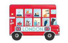 London Bus Shaped Cover Sticky Notes