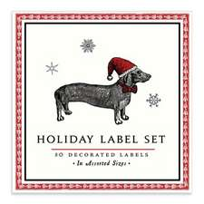 Alice Scott Christmas Dachshund Book of Labels