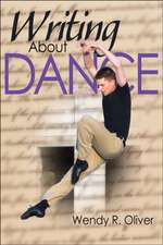 Writing about Dance:  Theory and Practice for Children Under 8