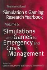 Simulations and Games for Emergency and Crisis Management
